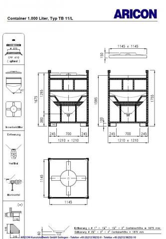 tb 11 l aricon kunststoffbeh lter f r die industrie. Black Bedroom Furniture Sets. Home Design Ideas